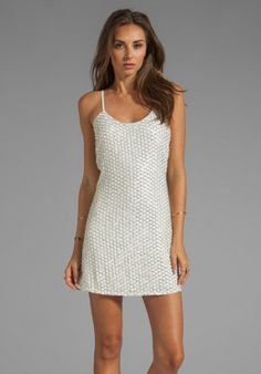 06a4ca9b4829 Parker Kate Sequins Dress in White in White - Lyst Dresses For Sale, Day  Dresses