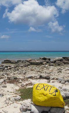 Scuba diving sign Bonaire