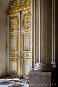 Double doors at Chateau de Versailles, France. © Brian Jannsen Photography