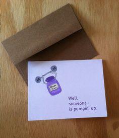 Pump Up the Grape Jam greeting card A2 4.25 x 5.5 by HushandGael, $5.00