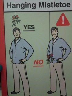 A guide to hanging Mistletoe.