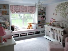 LOVE the Window area!!!  Just imagine your little girl reading a book on the bench.... so beautiful