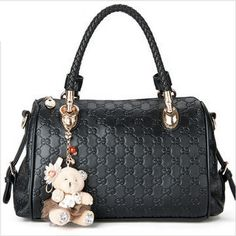 Black - 48 USD Shoulder Handbags, Shoulder Bag, Purses, Lady, Leather, Amazon, Women, Style, Fashion