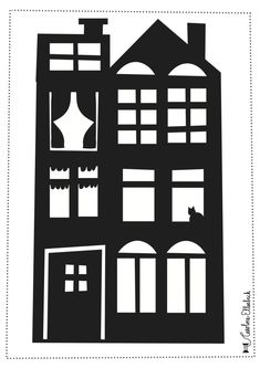 Mustache craft afternoon: St Nicholas' steamer – The World of Mustache – Knippen Mustache Crafts, Saltbox Houses, Saint Nicolas, Iris Folding, Halloween Pictures, Silhouette Portrait, Paper Houses, Silhouette Cameo Projects, Black N White Images