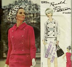 1960s Vogue Couturier Design Pattern 1592 by allthepreciousthings, $65.00