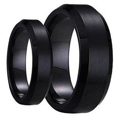 His & Her's Matching 6mm / 8mm Black Brushed Center with Polished Edge Tungsten Carbide Wedding Band Set tungsten jeweler http://www.amazon.com/dp/B012PKRXP2/ref=cm_sw_r_pi_dp_KNszwb0YXW18A