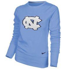 Nike North Carolina Tar Heels (UNC) Ladies Excel Pullover Crew Sweatshirt - Carolina Blue