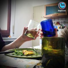 Salute!! A day in the life with #boglasses! #italianstyle #adayinthelife #lunch #friends #italiandesign #glass #ecofriendly #design