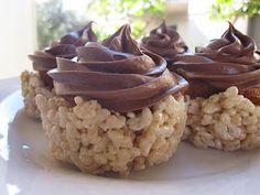 Rice Crispy Treat Cupcakes