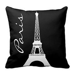 Bring the romance of Paris to you by adding some trendy Paris themed home decor. As you know Paris is absolutely beautiful all times of year because it symbolizes love and romance. With this in mind it is easy to transform your home into a magical romantic paradise. Also can be under: paris room wall decor paris room decorations paris themed home decor paris themed decor Black and White Tower Paris Throw Pillow Covers Square Printed Cushion Cases for Sofa Bed Pillow Decorative
