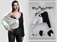Sims 4 Mods Clothes, Sims 4 Clothing, Clothing Sets, Female Clothing, Custom Clothing, Sims 4 Cas Mods, Sims 4 Cc Folder, Around The Sims 4, Sims 4 Collections