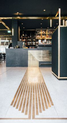 Art Deco Restaurant Bar 51 Ideas For 2019 Deco Restaurant, Restaurant Interior Design, Modern Interior Design, Interior Architecture, Restaurant Ideas, Gold Interior, Restaurant Interiors, Contemporary Interior, Restaurant Counter