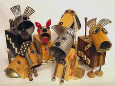 Junkyard Dogs by mixed media maz pics these are cute!
