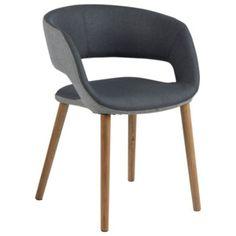 Antracitově šedá jídelní židle Actona Greta