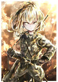 Evil Anime, Anime Manga, Guerra Anime, Tanya Degurechaff, Tanya The Evil, Sad Drawings, Anime Military, Bad Girl Aesthetic, Manga Artist