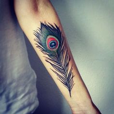 awesome Tattoo Trends - Top 100 Feather Tattoo Designs For Women and Men. Peacock Feather Tattoo Meaning, Tribal Feather Tattoos, Feather Tattoo Design, Peacock Tattoo Men, 27 Tattoo, Cover Tattoo, Arm Tattoos, Body Art Tattoos, Wild Tattoo