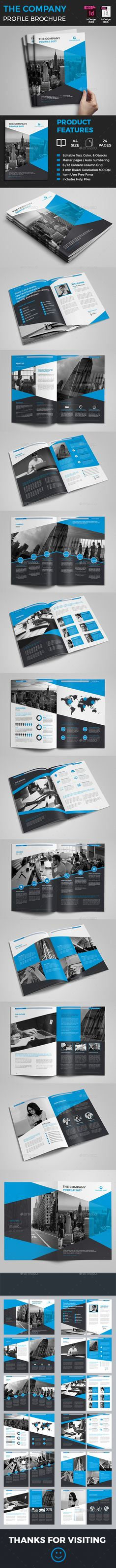 The Company Profile — InDesign Template #a4 #proposal brochure • Download ➝ https://graphicriver.net/item/the-company-profile/18085053?ref=pxcr