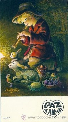 6057B - PRECIOSA POSTAL FERRÁNDIZ Nº 9196 - DATA 1977 - 15 X 8,5 CM Christmas Scenes, Christmas Cards, Arts And Crafts, Paper Crafts, Prado, Cute Dolls, Vintage Christmas, Illustration Art, Childhood