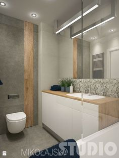 Wood Effect Tile wall feature with a large format grey tile. Ensuite Bathrooms, Bathroom Plans, Bathroom Toilets, Bathroom Renos, Dream Bathrooms, Bathroom Furniture, Contemporary Bathrooms, Modern Bathroom, Small Bathroom
