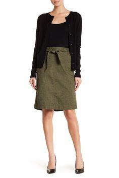 Floral Print Twill Skirt