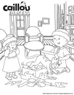 Caillou Holiday Fun – Unwrap the Fun Coloring Sheet!