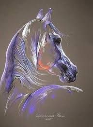33 Horse Drawing Ideas With Crayon - Art Horse Drawings, Animal Drawings, Art Drawings, Drawing Art, Drawing Ideas, Abstract Horse Painting, Watercolor Paintings, Pastel Paintings, Chalk Pastel Art