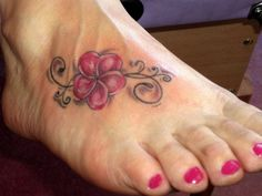 add to foot tattoo