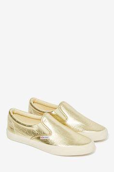 Superaga Whutta Croc Leather Slide Sneaker - Flats