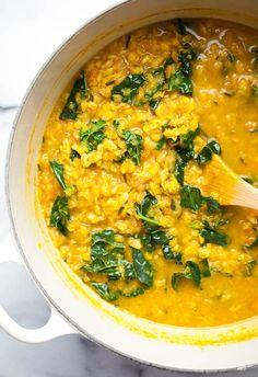 healing turmeric lentil farro soup lentil farro kale soup with garlic ...