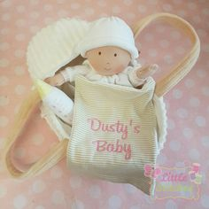 Personalised baby doll with carry cot and by Littlestitches1