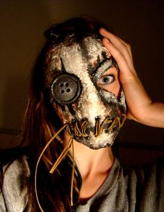 Button Eye Doll Mask By Riley Sell by YaYosCircus on Etsy