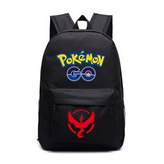 Dropshipping Poupular Game Pokemon Go Backpack Black School Bags Shoulders Bag For Young people Mochila Feminina