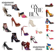 """Statement Shoes"" by whitecastlenine on Polyvore featuring Topshop, Miss Selfridge, Kurt Geiger, Sophia Webster, Christian Louboutin, Jimmy Choo, Stuart Weitzman, Dolce&Gabbana, Charlotte Olympia and Avec Les Filles"
