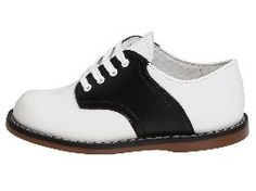 Footmates Cheer 3 White Black Saddle Shoe