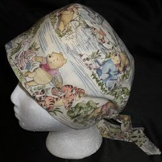 Etsy Pediatric Nurses Winnie The Pooh And Friends Banded Bouffant Or Pixie Tie Back Surgical Scrub Caps Ladies Hats Made From Disney Fabric Pediatric Scrubs, Pediatric Nursing, Disney Scrubs, Cute Scrubs, Disney Fabric, Disney Winnie The Pooh, Scrub Caps, Hat Making, Sell On Etsy