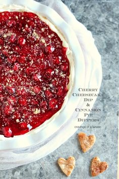 Cherry Cheesecake Dip with Cinnamon Pie Dippers