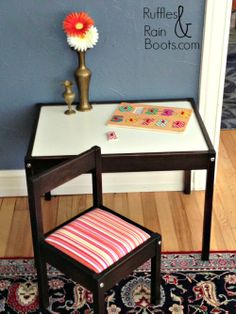 Ruffles and Rain Boots: Ikea Hack: Lackluster Latt Table to Toddleriffic Table