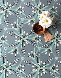 Cattail cement tile by Grow House Grow Cement Tiles Bathroom, Concrete Tiles, Terrazzo Tile, Travertine, Walk On Water, Commercial Design, Fabric Wallpaper, Natural Materials, A Boutique