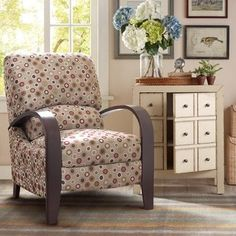 Madison Park Brydon Cream Bent Armchair Recliner | Overstock.com Shopping - The Best Deals on Living Room Chairs