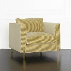 KELLY WEARSTLER | MELANGE CLUB CHAIR. Upholstered in Oblique Gold