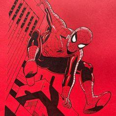 Childhood hero Spider-Man, 50x70cm pencil and marker on red paper. #marvel #marvelart #spidey #spiderman #spidermandrawing #spidermanart #fanart #marvelfanart Spiderman Drawing, Spiderman Art, Satoshi Nakamoto, Marvel Fan Art, Marker, Fanart, Childhood, Pencil, Superhero