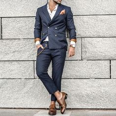 Polka dot suit and #monkstrap shoes by @tonyvoltaire ✨ [ www.RoyalFashionist.com ] tag #royalfashionist