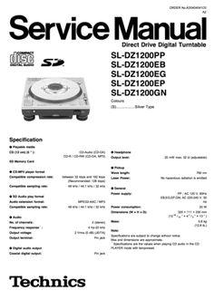 Technics SL-1700 mk2 Turntable , Service Manual