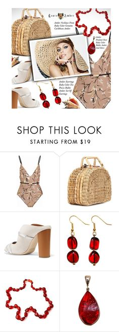 """TsarsAmber Jewelry"" by beebeely-look ❤ liked on Polyvore featuring Zimmermann, Kayu, Malone Souliers, Anja, beach, amber, jewelry, earrings and TsarsAmber"
