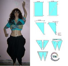 You can follow instructions how to make your own dhoti pants or samosa salwar at.. http://indiabazaar.net/pages.php?pageid=36