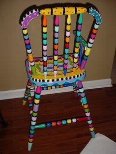 Joyful Hand Painted Chair