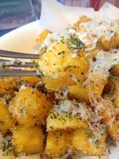 How to Make Crispy Fried Rosemary Polenta Recipe