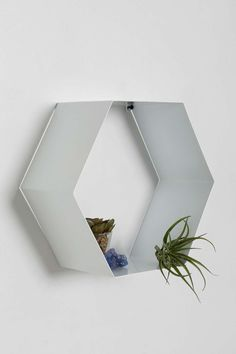 Hexagon Shelf in White