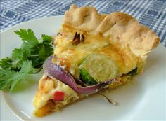 Roasted Vegetable and Gruyere Quiche from Food.com: Roasting the vegetables before using them in the quiche means a little more effort, but it's well worth it as it really brings out all the sweetness and flavours.