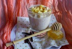 Almás-kókuszos zabkása Icing, Food And Drink, Pudding, Breakfast, Healthy, Tej, Mint, Morning Coffee, Custard Pudding